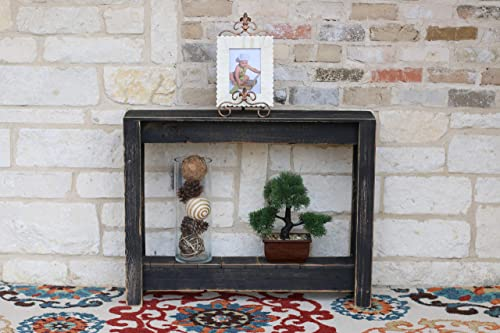 Black Rustic Entry Way Table 36 L