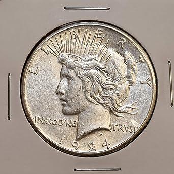 1923 S PEACE SILVER DOLLAR CHOICE AU