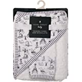 Laura Ashley Infant Hooded Towel and Washcloth, Whales Print