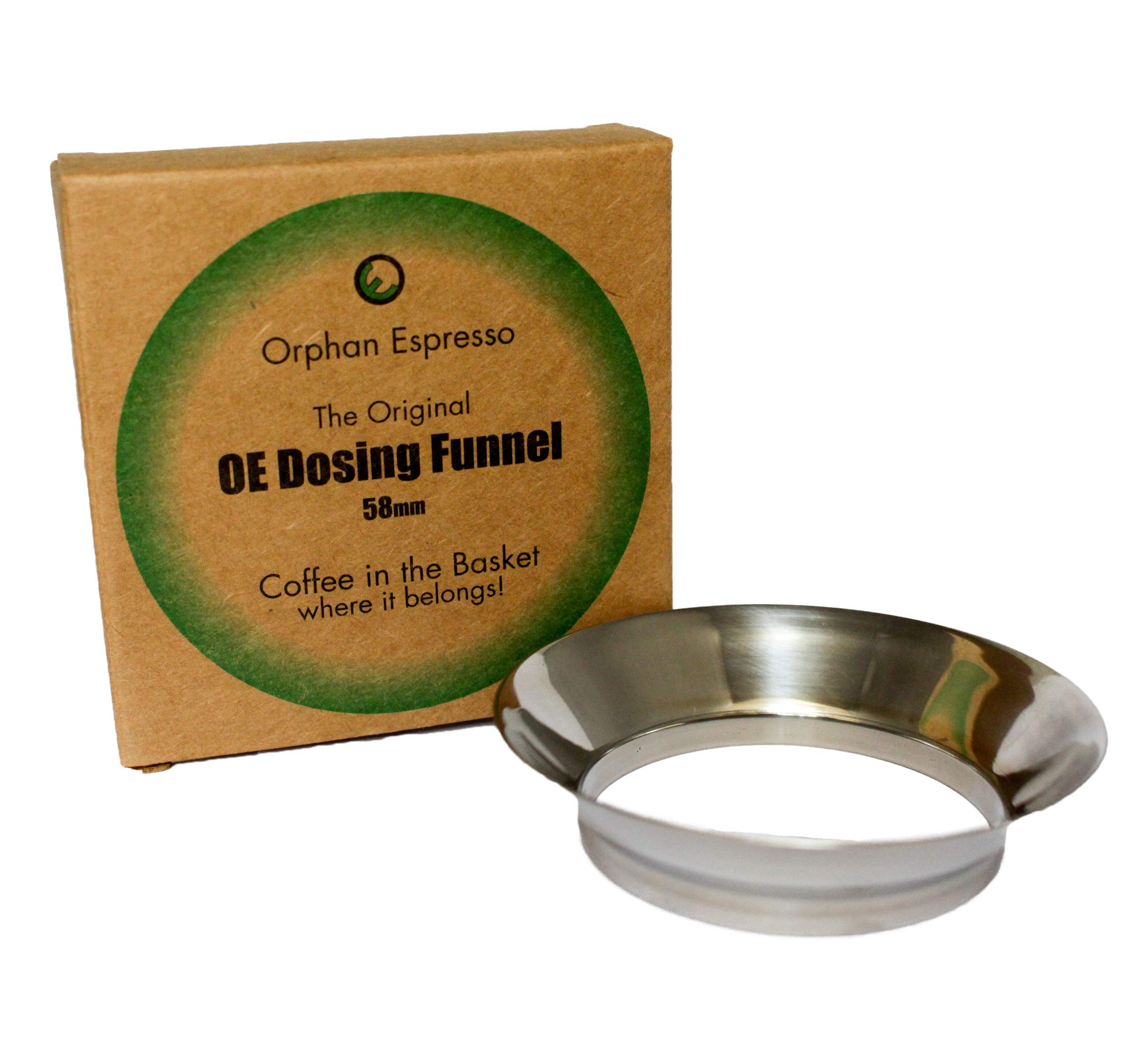 Stainless Steel Dosing Funnel | 58mm | For Commercial Espresso Machine Portafilters
