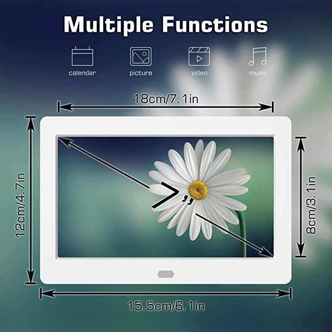 Kamera & Foto Digitale Bilderrahmen 7 Zoll 1024 * 600 HD IPS LCD ...
