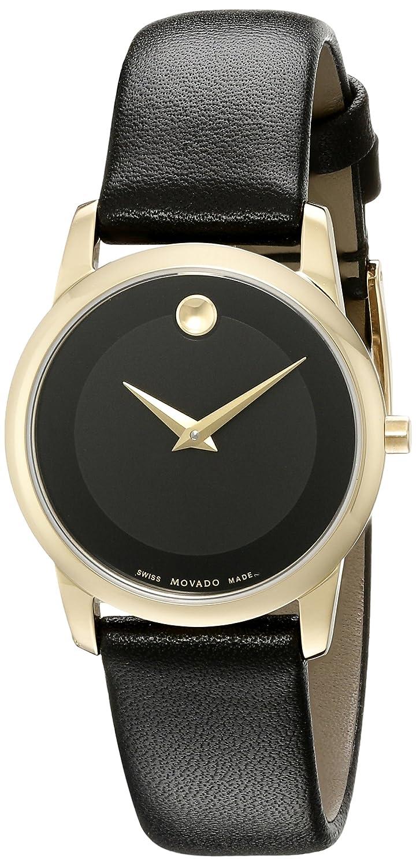 21355202224f Amazon.com  Movado Women s 0606877 Analog Display Swiss Quartz Black Watch   Movado  Watches