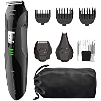 Remington All-in-One Grooming Kit, Lithium Powered, 8 Piece Set with Trimmer, Men's Shaver, Clippers, Beard and Stubble Combs, PG6027
