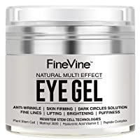 Anti Aging Eye Gel - Made in USA - for Dark Circles, Puffiness, Wrinkles, Bags,...