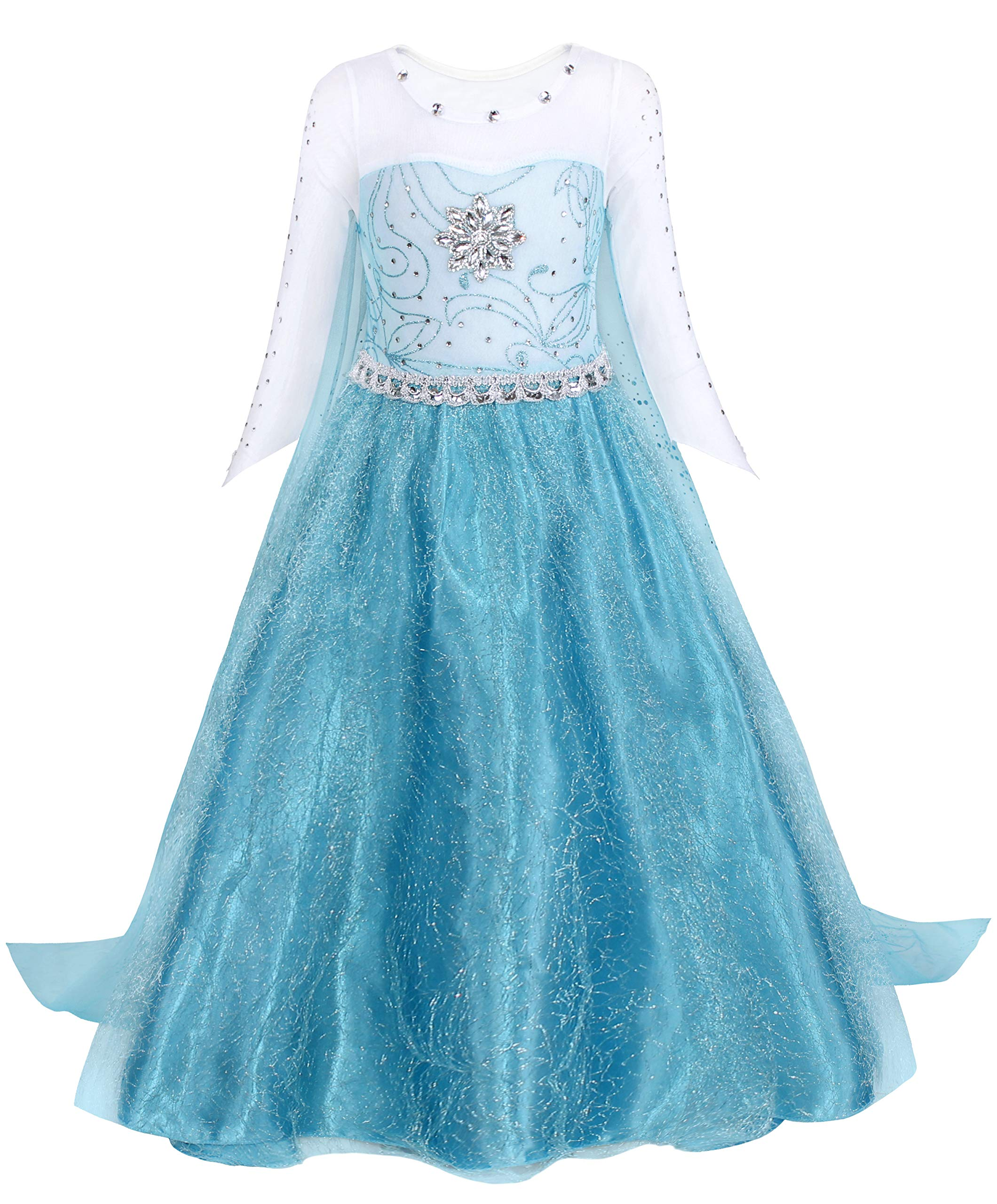AmzBarley Princess Costumes Girls Dress for Toddler Children Birthday Party Halloween Christmas Cosplay Outfits Adventure Clothes Long Sleeves 2-10 Y