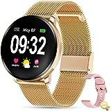 GOKOO Reloj Inteligente Mujer Smartwatch Bluetooth Rastreador de Fitness Pulsómetros Monitor de Sueño IP67 Impermeable…