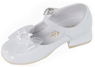 82ec66f41af White Patent Leather Flower Girl Mary Jane Shoes (8 M US Toddler)
