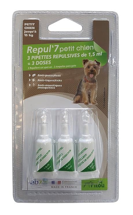 PILOU pipetas répulsives para Perro pequeño X3 pipetas de 1, 5 ML para Perro
