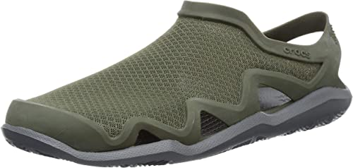 Crocs Mens Swiftwater Lightweight Traction Slip On Shandals