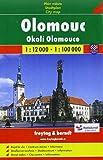 Olomouc Okoli Olomouce: Plan mesta - Stadtplan - City map. 1 : 12000 - 1 : 100 000