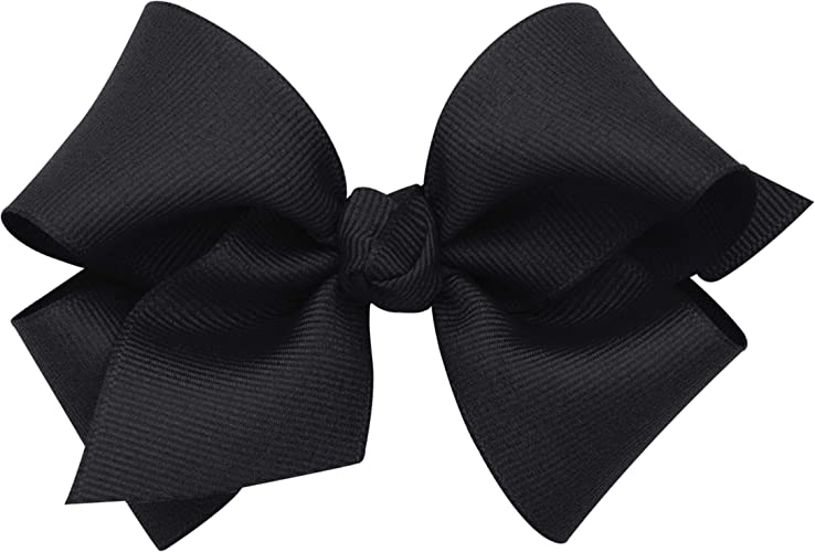 Wee Ones Baby Girls Medium Grosgrain Hair Bow on a WeeStay Clip w//Plain Wrap