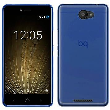 TBOC® Funda de Gel TPU Azul para bq Aquaris U - bq Aquaris U Lite (5.0 Pulgadas) de Silicona Ultrafina y Flexible