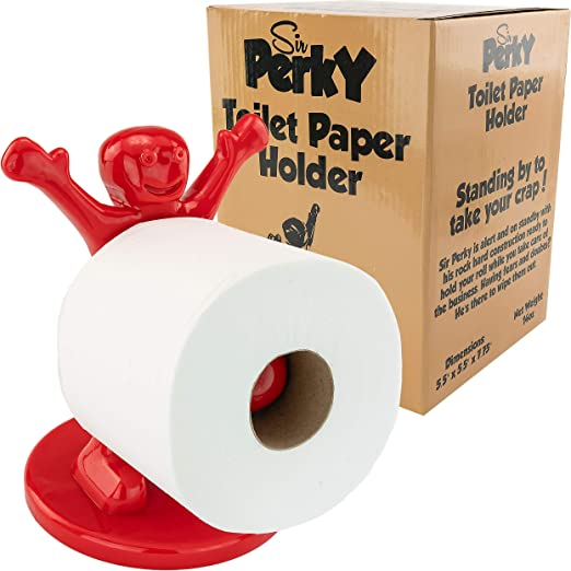toilet paper holder loo roll holder paint roller novelty joke item