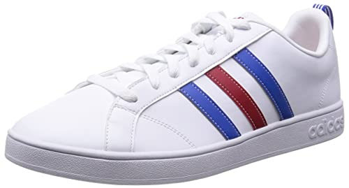 adidas Advantage VS - Zapatillas para Hombre, Color Blanco/Azul/Rojo, Talla 48: Amazon.es: Zapatos y complementos