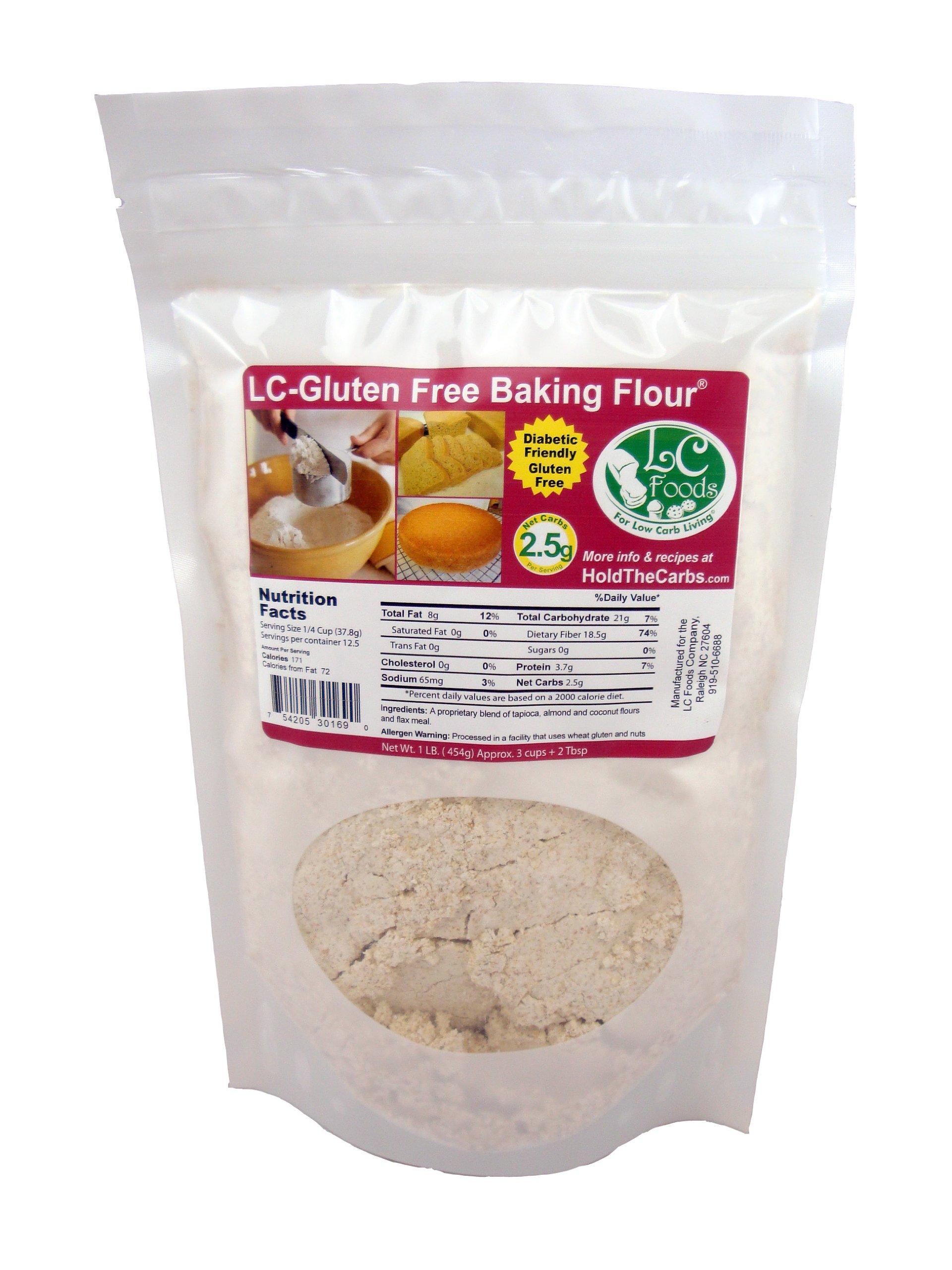 Low Carb Gluten Free Baking Flour (1 LB) - LC Foods - All Natural - Paleo - No Sugar - Diabetic Friendly