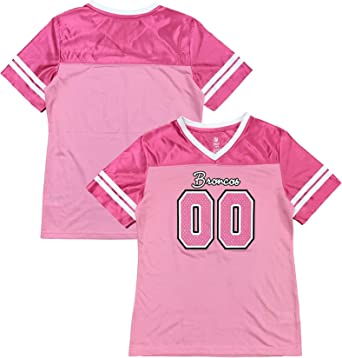 Amazon.com: Outerstuff Denver Broncos Logo #00 Pink Dazzle Girls ...