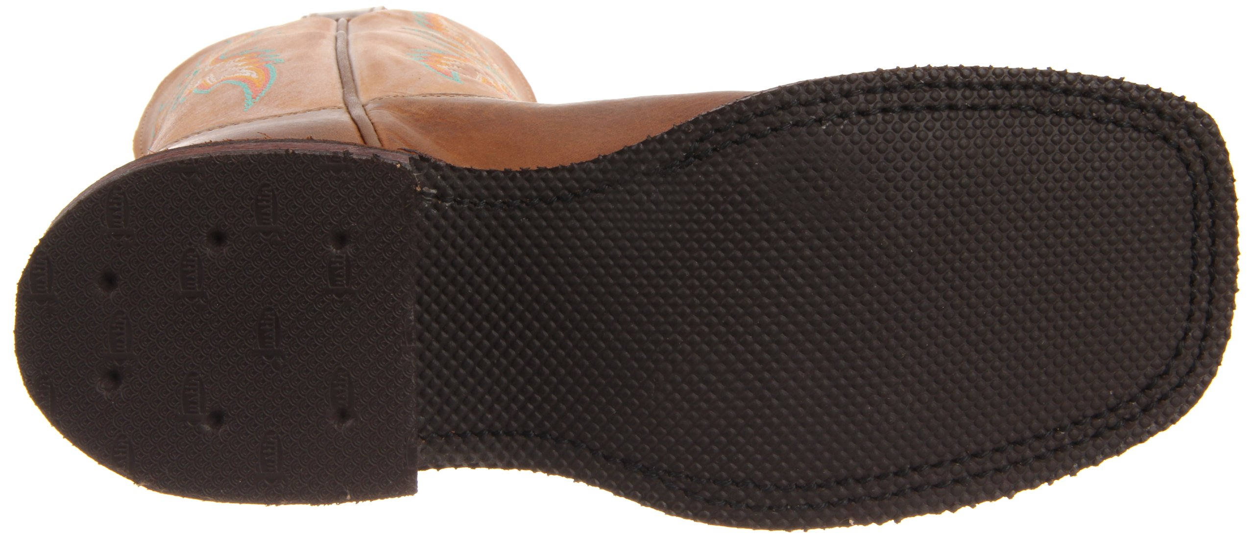 Justin Boots Women's U.S.A. Bent Rail Collection 13'' Boot Wide Square Double Stitch Toe Performance Rubber Outsole,Arizona Mocha/Fogged Camel,6.5 B US by Justin Boots (Image #3)