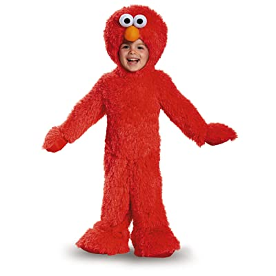 Extra Deluxe Elmo Plush Baby Infant Costume: Toys & Games
