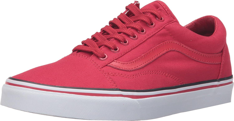 Vans UA Old Skool, Sneakers Basses Homme Rosso Bianco Nero