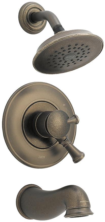 Delta Lockwood 17440-PT Monitor Scald-Guard Tub & Shower w/ Volume ...