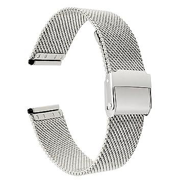 TRUMiRR pour Huawei Watch 1st Gen Bracelet de Montre, 18mm Tissé Bracelet en Acier Inoxydable