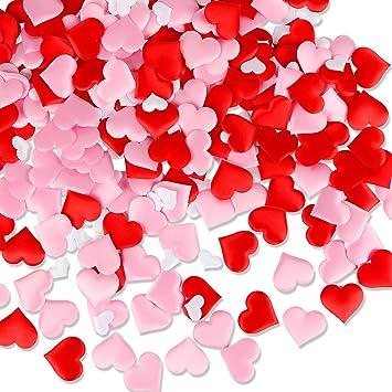 300Pcs Red U0026 Pink U0026 White Heart Confetti For Valentineu0027s Day Wedding Birthday  Party Decoration Supplies