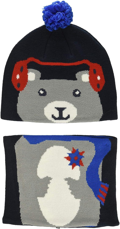 Collegiate Navy Bear O//O//S Cappello Unisex Bambino Blu Columbia Snow More And Gaiter Set Toddler