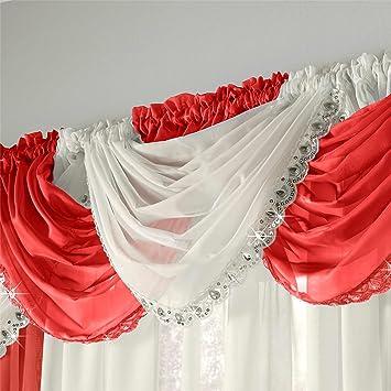 Alzapaños de gasa para cortina de pedrería de cristal y lentejuelas,