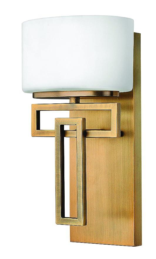 Amazon.com: Hinkley 5100br Uno Luz Baño de lanza Colección ...