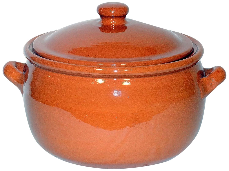 Amazing Cookware SB113 Natural Terracotta 3 Litre Stew Pot - Brown