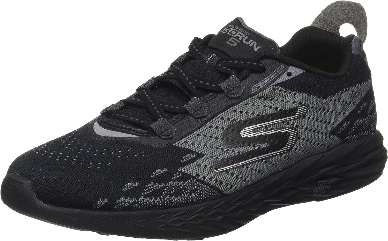 Skechers Go Run 5, Zapatillas de Entrenamiento para Hombre, Negro (Black), 45 EU: Amazon.es: Zapatos y complementos