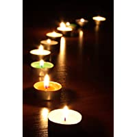 Duvar Tasarım DLC 1061 Candle Led Canvas Tablo, 70x50 cm