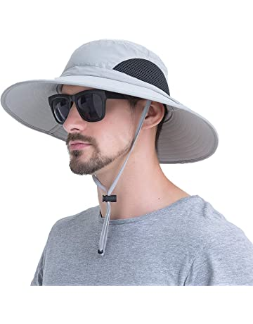 c3898b5903e1 Outdoor Boonie Sun Hat - UPF 50+ Protection Wide Brim Waterproof Cap for  Safari Fishing