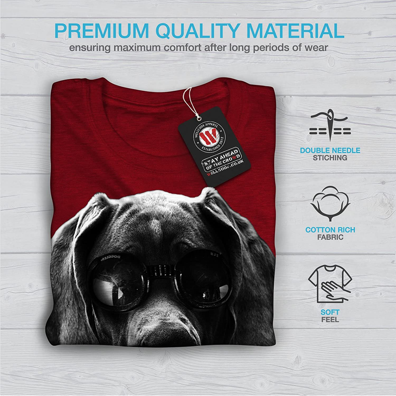 Wellcoda Swag Great Dane Dog Womens T-Shirt Bad Boy Graphic Style Design Tee