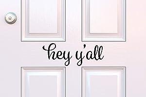 Hey Yall Decal Hey Yall Vinyl Decal Front Door Decal Southern Decal Door Decoration Yall Front Door Yall Door Decal Door Greetings Decal
