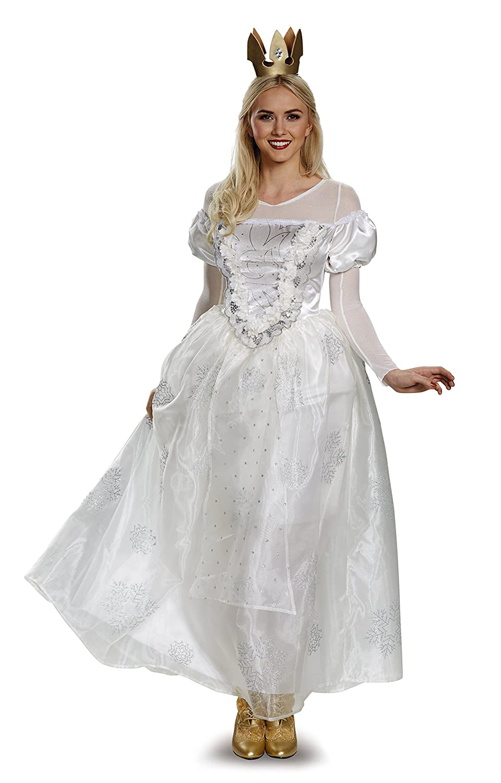Amazon.com: Disney Women\'s Alice White Queen Deluxe Costume: Clothing
