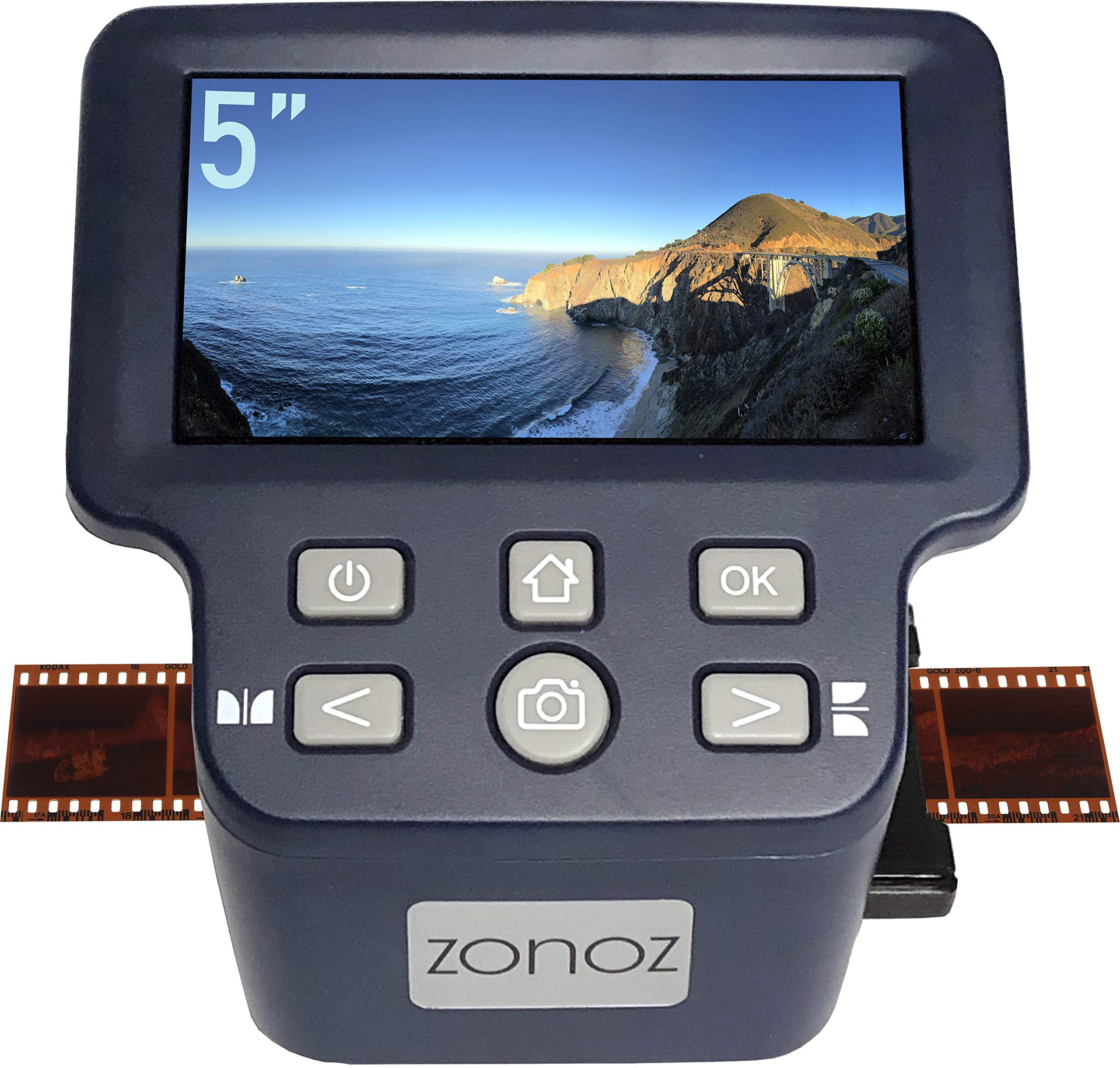 zonoz FS-Four Digital Film & Slide Scanner Converter w/HDMI Output - Converts 35mm, 126, 110, Super 8 & 8mm Film Negatives & Slides to JPEG - Large 5'' LCD, Easy-Load Adapters (Worldwide 110V-220V) by zonoz (Image #2)