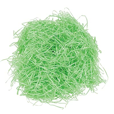 Fun Express - Green Easter Grass for Easter - Party Supplies - Wrappings - Wrapping & Tissue - Easter - 12 Pieces: Toys & Games