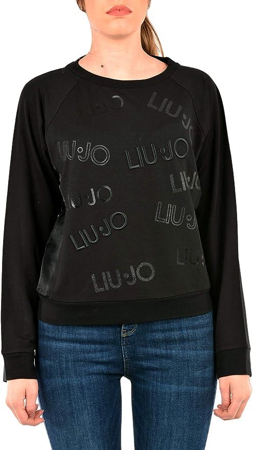 Girocollo,/T69168 Liu Jo Sport Felpa da Donna con Logo Frontale