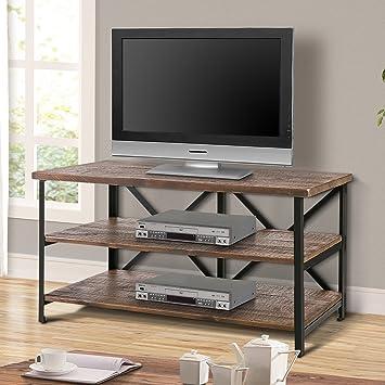Amazoncom Harper Bright Designs Wood Tv Stand Cabinet