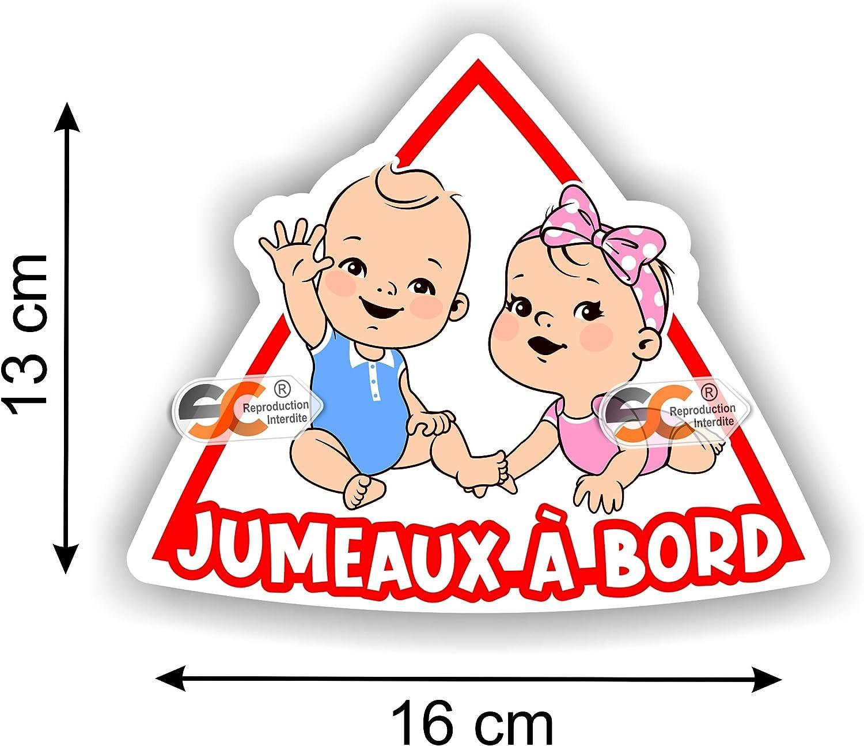 Jumelles /à Bord Fille//Fille Mod/èle Fille//Fille Jumelles Autocollant b/éb/é /à Bord Enfant