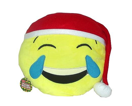 Emoji Navidad almohada, 11 pulgadas: Amazon.es: Hogar