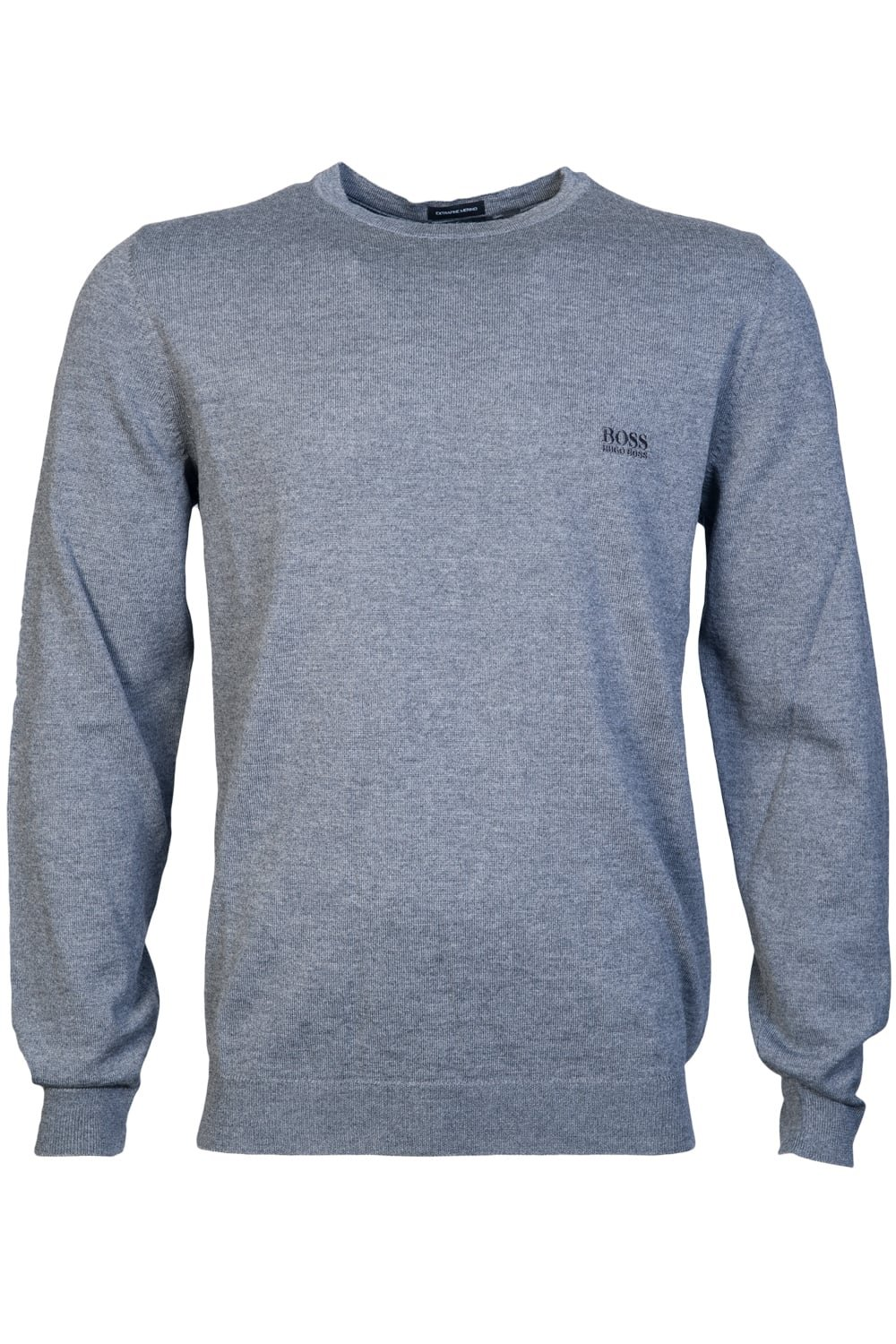 HUGO BOSS Mens Round Neck Knitwear botto-L 50373739 Size L Grey
