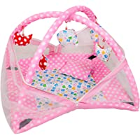Deals Outlet Baby Kick and Play Gym with Mosquito Net and Baby Bedding Set (Pink)