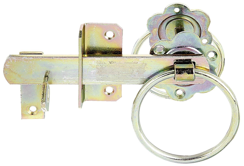 GAH-Alberts 210250 Gartentorverschluss f/ür hohe Tore oder Flechtzaunt/üren galvanisch gelb verzinkt