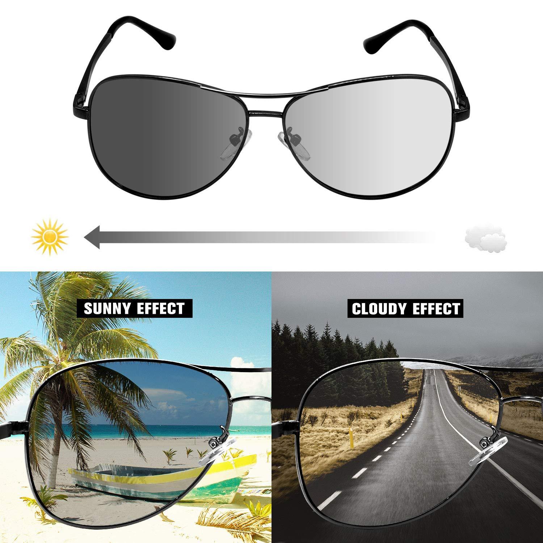 DONPEREGRINO Polarizzati Occhiali da Sole da Uomo Donna Ultraleggero con Lenti a Colori Cangianti