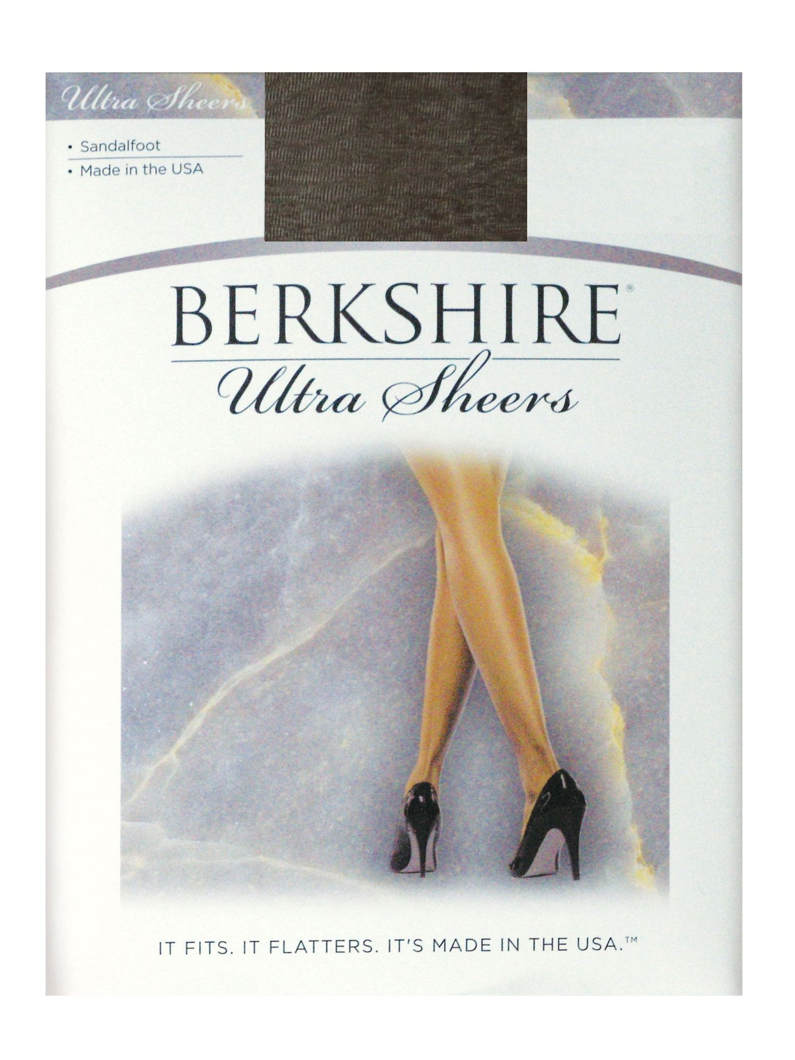 Berkshire Women's Ultra Sheer Non-Control Top Pantyhose - Sandalfoot, Off Black, 2+