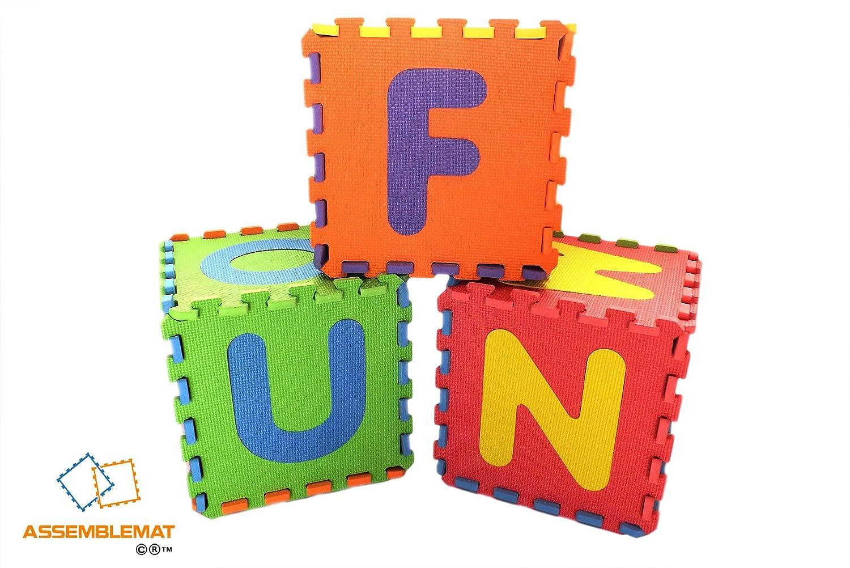 Morbido puzzle di alfabeto tappeti gioco incastro schiuma mat