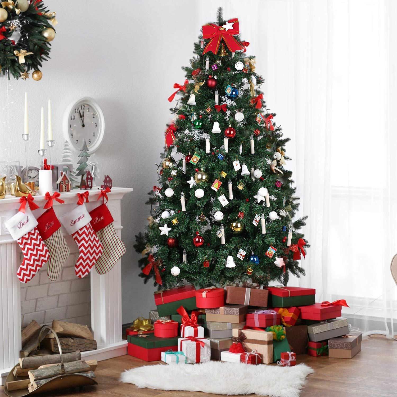 Decoraci/ón de Fiestas-Luz Roja//Azul//Verde//Coloreada MVPOWER 30 Luces de Velas Electr/ónicas Sin Llama Con Accesorios para Fijaci/ón y Control Remoto Infrarrojo para /Árbol Navidad Velas LED de Navidad