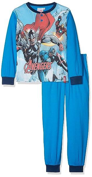 Disney Avengers, Pelele para Dormir para Niños, Azul (Royale 004) 134 cm